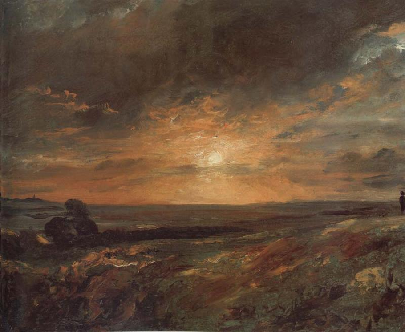 John Constable Hampsted Heath,looking towards Harrow at sunset 9August 1823 oil painting image