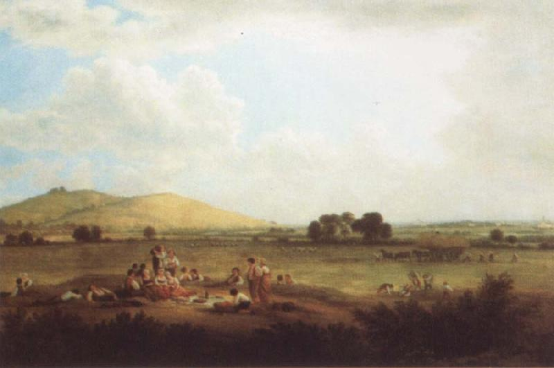 John glover Hayfield near Primrose Hill 1817 oil painting image