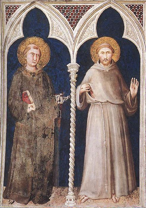 Simone Martini St Anthony and St Francis oil painting image