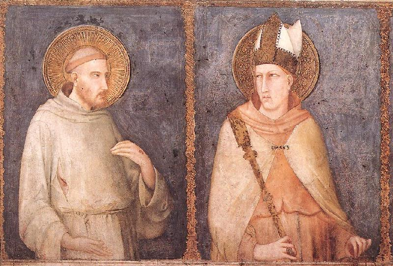 Simone Martini t Francis and St Louis of Toulouse oil painting image