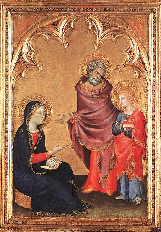 Simone Martini Christ Returning to his Parents oil painting image