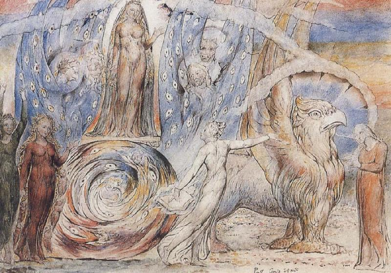 William Blake Beatrice addressing Dante from her Wagon oil painting image